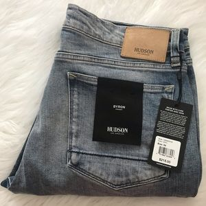 NEW wTag-HUDSON Byron Straight Jeans 34 x 34